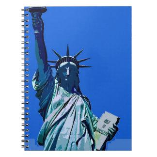 Blue Sky of New York - Lady Liberty Notebook