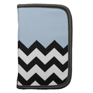 Blue-Sky-On-Black-&-White-Zigzag-Pattern Organizer