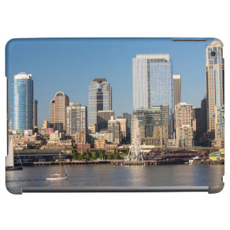 Blue sky over the Elliott Bay waterfront iPad Air Covers