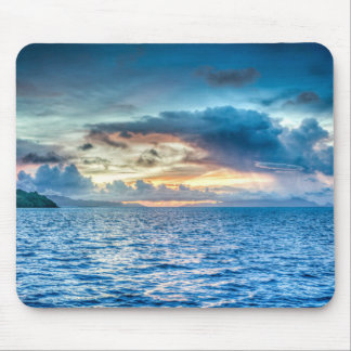 Blue Sky over Water Mousepad - HAMbyWhiteGlove