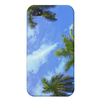 Blue Sky, Palm Trees! iPhone 4 Cover