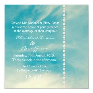 Blue sky personalized wedding invitation