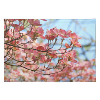 Blue Sky Placemats Pink Dogwood Tree Flowers