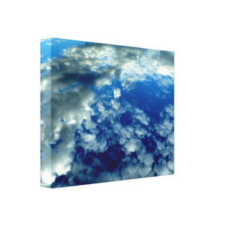 BLUE SKY PUFFY CLOUDS SPACE PHOTOGRAPHY WALLPAPERS CANVAS PRINT