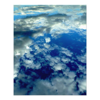 BLUE SKY PUFFY CLOUDS SPACE PHOTOGRAPHY WALLPAPERS FLYER