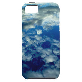BLUE SKY PUFFY CLOUDS SPACE PHOTOGRAPHY WALLPAPERS iPhone 5 COVERS