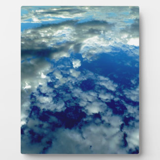 BLUE SKY PUFFY CLOUDS SPACE PHOTOGRAPHY WALLPAPERS PLAQUE