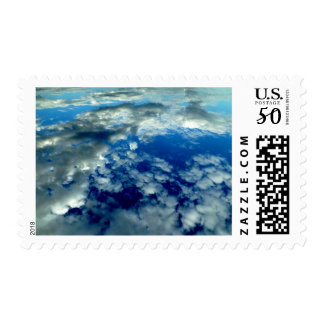 BLUE SKY PUFFY CLOUDS SPACE PHOTOGRAPHY WALLPAPERS POSTAGE