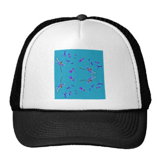 Blue Sky Purple Dragonflies Gifts by Sharles Trucker Hat