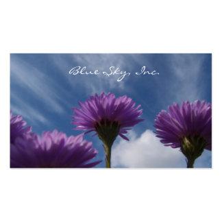 Blue Sky Purple Flowers Business Card