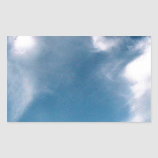 Blue Sky Rectangular Sticker