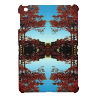 Blue Sky Red Trees Fall Abstract Photo Ipad Case