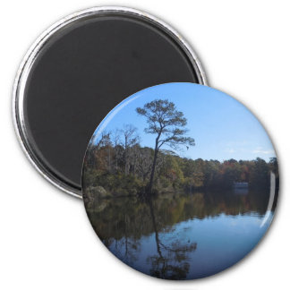 Blue Sky Reflections - Beaufort County, NC 2 Inch Round Magnet