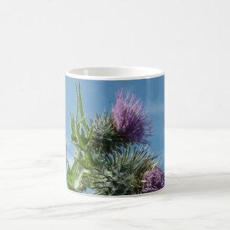 Blue Sky Scottish Thistle Coffee Mug