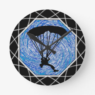 BLUE SKY SKYDIVING ROUND CLOCK