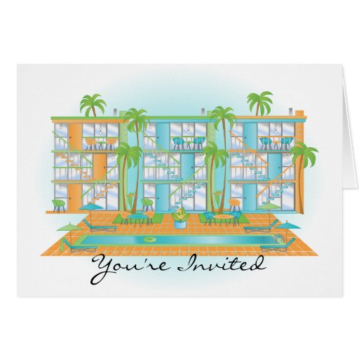 Blue Sky Snazzy Apartments Greeting Card