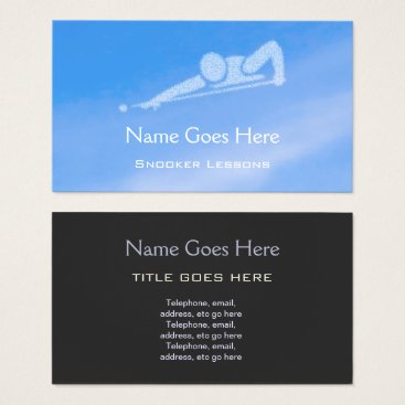 """Professional Business """"Blue Sky"""" Snooker Business Cards"""