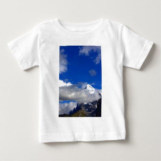 Blue Sky Snowy Mountain Baby T-Shirt