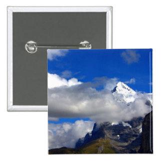 Blue Sky Snowy Mountain Button