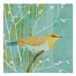 Blue Sky Songbird Poster