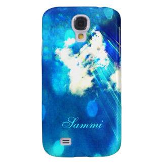 Blue Sky Sparkle Galaxy S4 *Personalize* Samsung Galaxy S4 Case