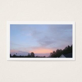 Blue Sky Sun Set Business Card