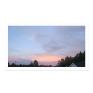 Blue Sky Sun Set Double-Sided Standard Business Cards (Pack Of 100)