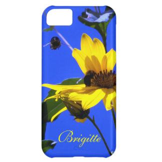 Blue Sky, Sunflowers N Bees iPhone 5 case