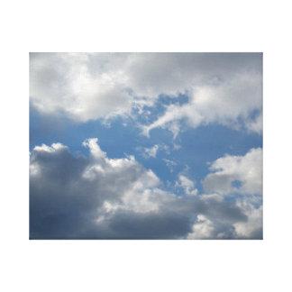 Blue Sky - Sunshine - Clouds Canvas Print