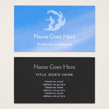 "Professional Business ""Blue Sky"" Surfing Business Cards"