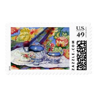 Blue Sky Tea Stamps