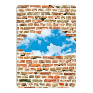 Blue Sky Through Brick Wall Card