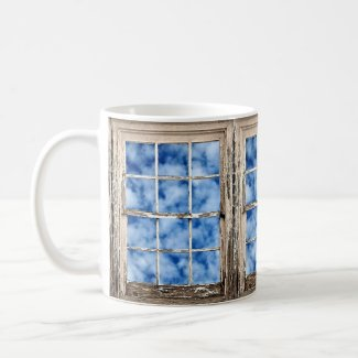 Blue Sky Through Window Coffee Mug