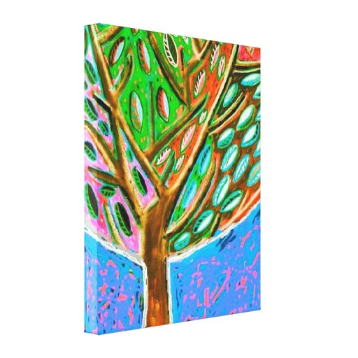 Blue Sky Tree Of Life Canvas Canvas Prints