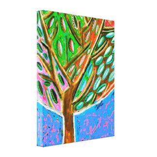 Blue Sky Tree Of Life Canvas Canvas Print