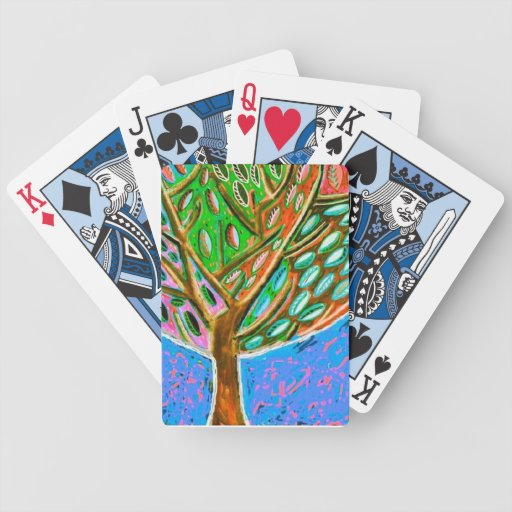 Blue Sky Tree of Life Deck Of Cards