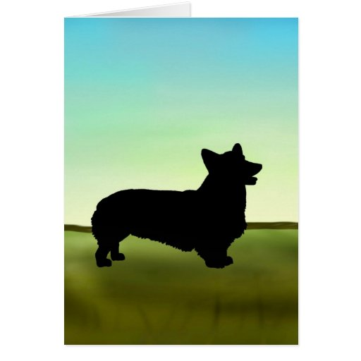 Blue Sky Welsh Corgi Card