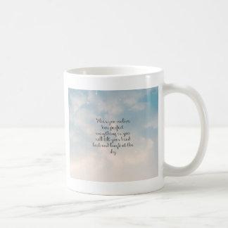 "Blue Sky ""When You Realize"" Inspirational Quote Coffee Mug"