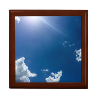 Blue Sky White Clouds Background Cloudy Skies Gift Box