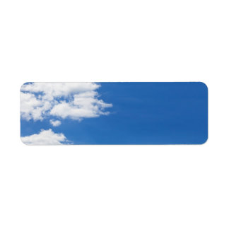 Blue Sky White Clouds Background Customized Blank Label