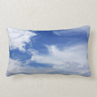 Blue Sky White Clouds Background - Customized Lumbar Pillow