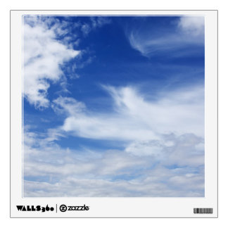 Blue Sky White Clouds Background - Customized Wall Sticker