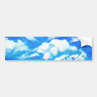Blue Sky White Clouds Bumper Sticker