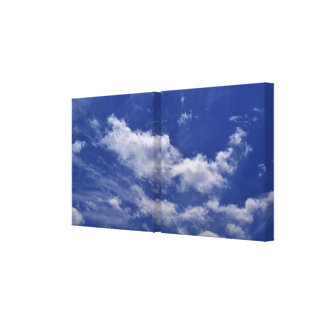 Blue Sky White Clouds Canvas Print