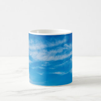 Blue Sky White Clouds Heavenly Cloud Background Classic White Coffee Mug