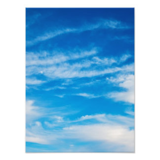 Blue Sky White Clouds Heavenly Cloud Background Photo Print