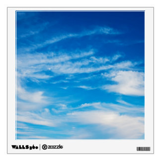 Blue Sky White Clouds Heavenly Cloud Background Wall Sticker