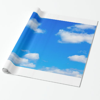 Blue Sky White Clouds Heavenly Cloud Background Gift Wrap