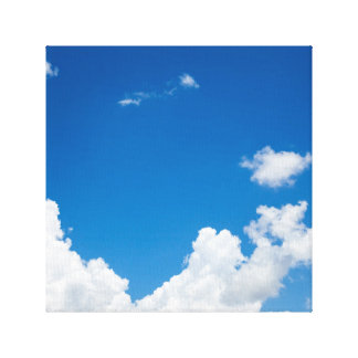 Blue Sky White Clouds Heavenly Skies Background Canvas Print