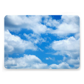 Blue Sky White Clouds Heavenly Skies Background Card